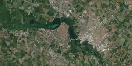 Mantova vista dall'alto satellite